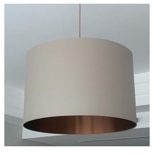 Round lampshade with copper lining lampshades dubai round lampshade with copper lining mozeypictures Gallery